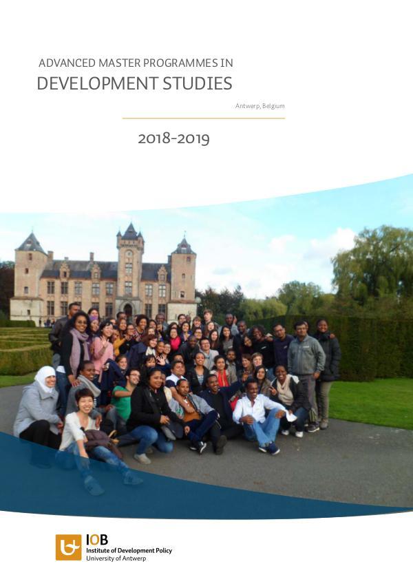 Masters in Development Studies 2018-2019 Brochure nieuw ontwerp 2018 web