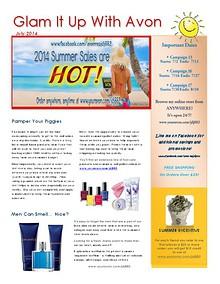 July Avon Newsletter