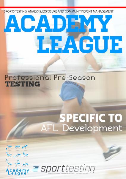 AFL Sports Testing AFL 2015 Testing