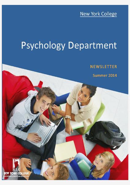 Psychology Newsletter Jun. 2014 Volume 1 Jun. 2014