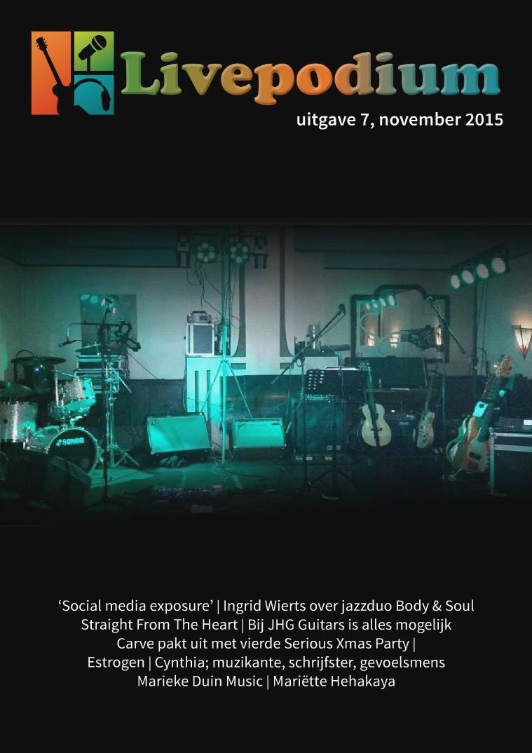 LivePodium Magazine Uitgave 7, november 2015