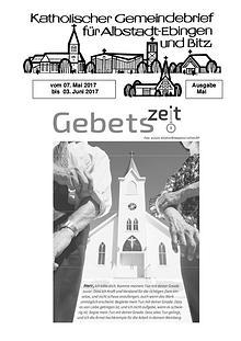 Gemeindeblatt Mai 2017