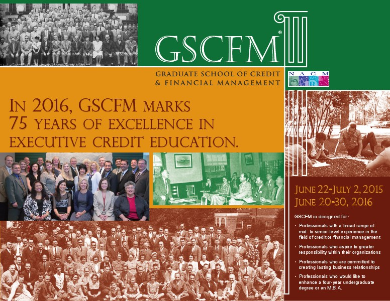 GSCFM  and GSCFMI Programs GSCFM 2015 Brochure