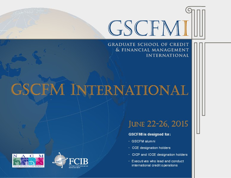 GSCFM  and GSCFMI Programs GSCFMI 2015 Brochure