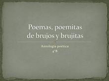 Poemas, poemitas, de brujos y brujitas.