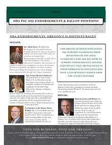 OBA PAC Endorsements