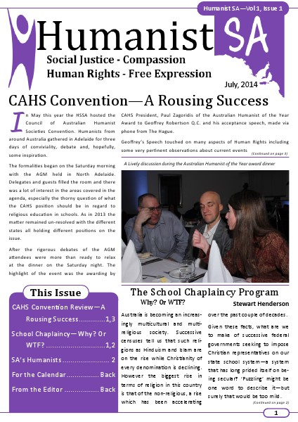 Humanist Pages July 2014