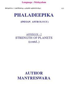 Phaladeepika - Appendix 2