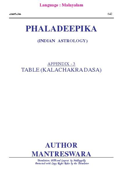 Phaladeepika - Appendix 3 Phaladeepika - Appendix 3