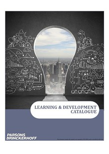 Parsons Brinckerhoff China Region Learning and Development e-Catalogue