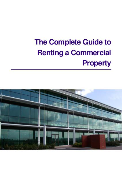 The Complete Guide to Renting a Commercial Property The Complete Guide to Renting Commercial Property