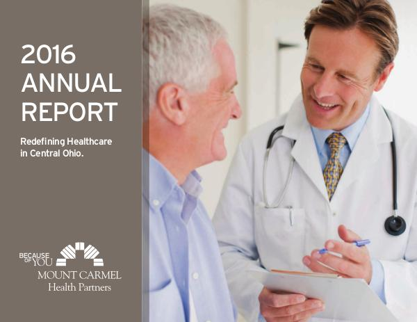 Mount Carmel Health Partners 2016 Annual Report