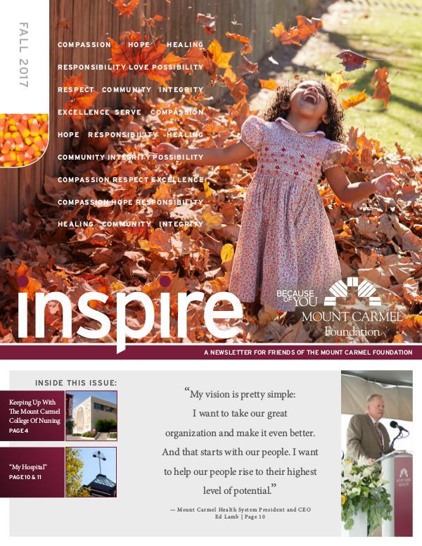 Mount Carmel Foundation Inspire Fall 2017