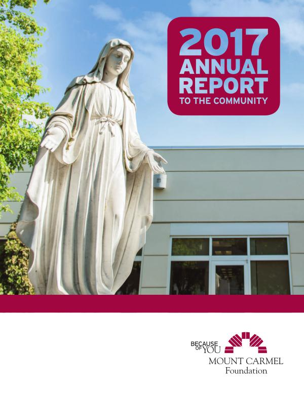 Mount Carmel Foundation Annual Report 2017 Annual Report