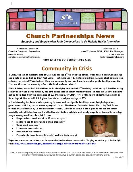Church Partnership Newsletter October 2014