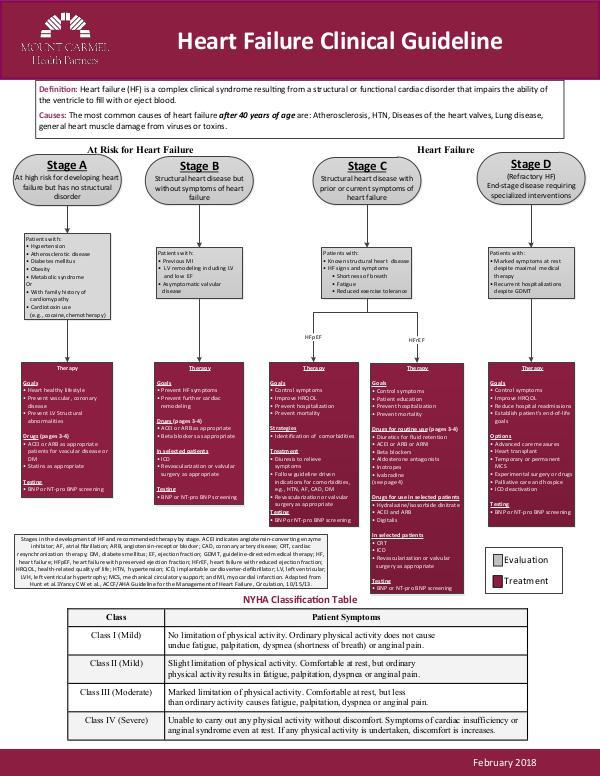 Mount Carmel Health Partners Heart Failure Clinical Guideline