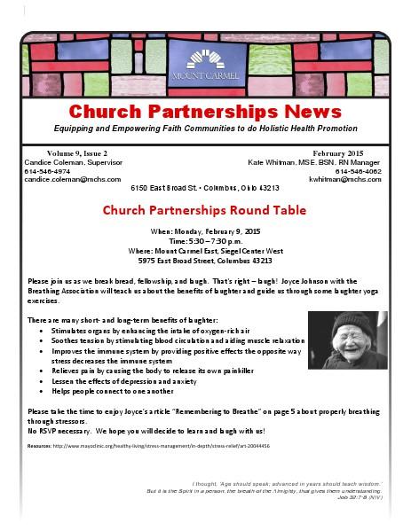 Church Partnership Newsletter February 2015