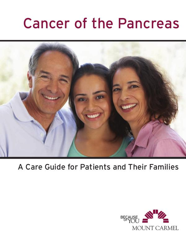 Patient Education Cancer of the Pancreas: A Care Guide
