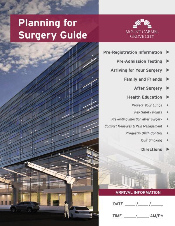Patient Education Preparing for Surgery at Mount Carmel West
