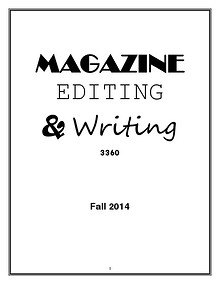 Magazine Editing & Writing 3360