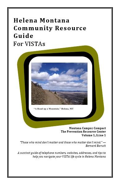 Community Resource Guide For Helena VISTAS Volume 1. July. 2014