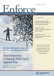 Enforce: The Insurance Policy Enforcement Journal  vol 12 | issue 1