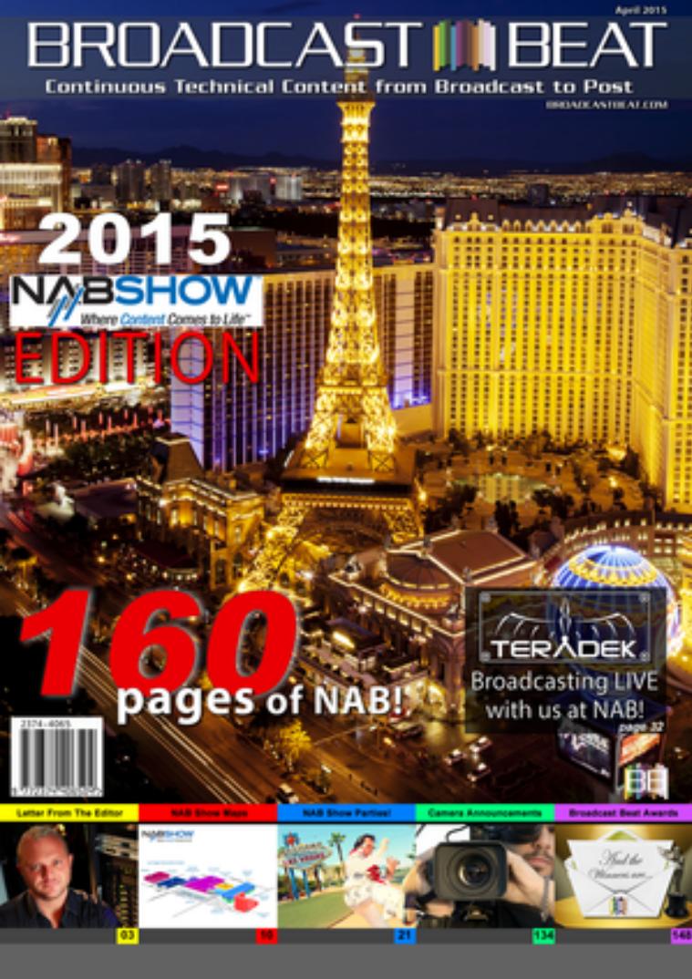 Broadcast Beat Magazine April, 2015