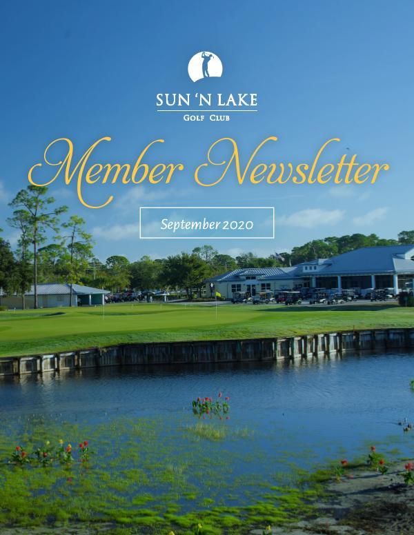 Sun N Lake September 20 Newsletter