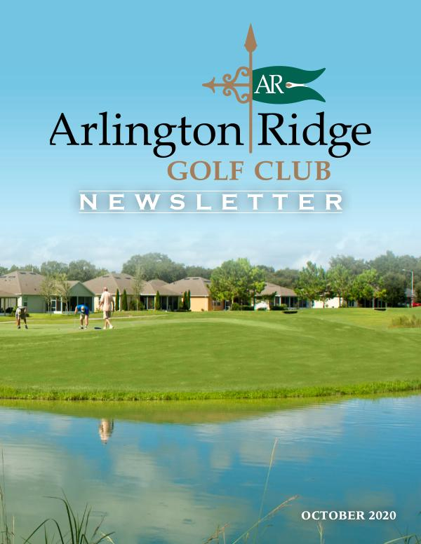 Arlington Ridge October 20 Newsletter