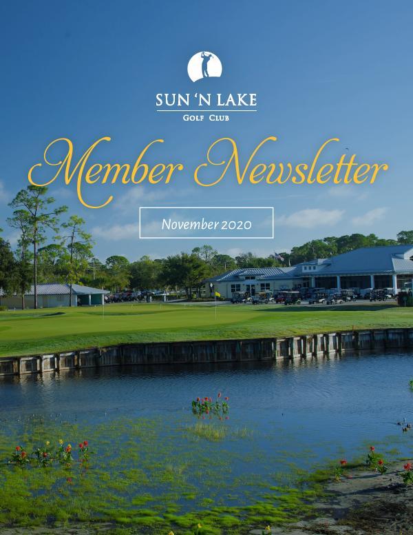 Sun N Lake November 20 Newsletter