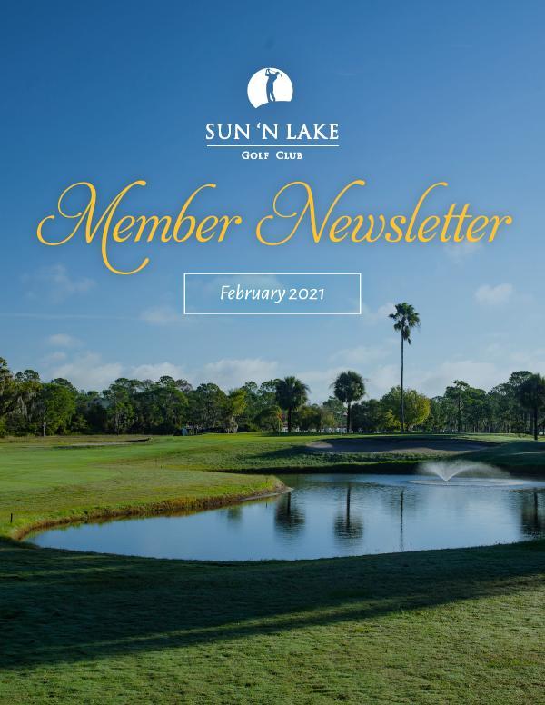 Sun N Lake February 21 Newsletter