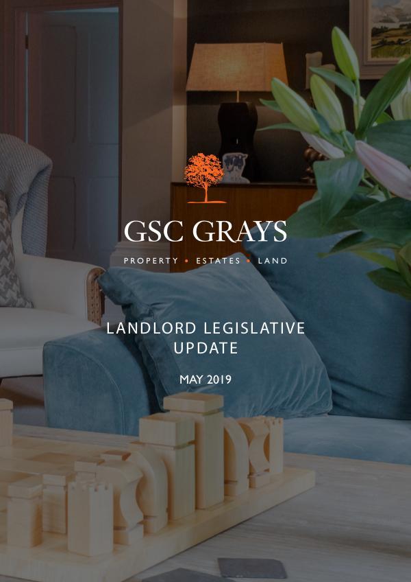 Landlord Legislative Update May 2019 Residential Landlord Update for joomag