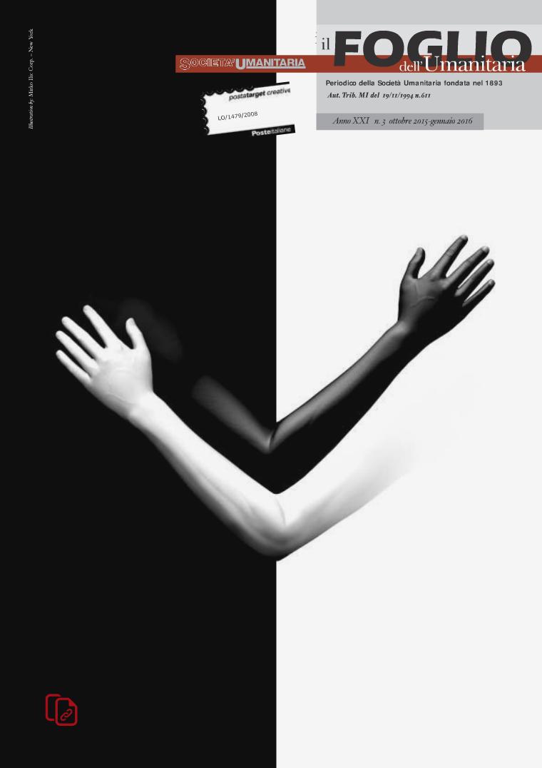Il foglio dell'Umanitaria n.3 ottobre 2015 - gennaio 2016