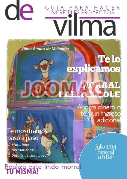 Patrones Vilma Amaro Tutorial Morral - Julio 2014