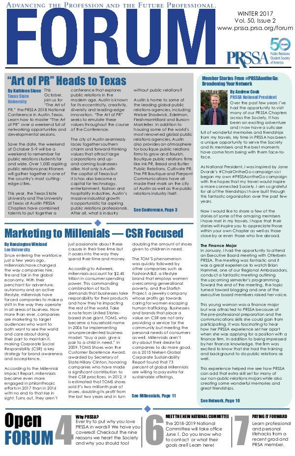 FORUM Spring 2018 vol. 50 Issue 3