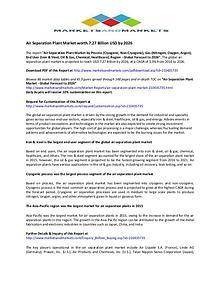 Air Separation Plant Market Global Trend & Forecast