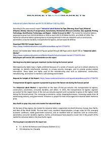 Industrial Labels Market - 2019