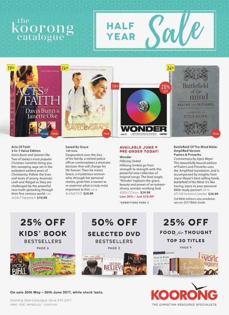 The Koorong Catalogue Half Year Sale