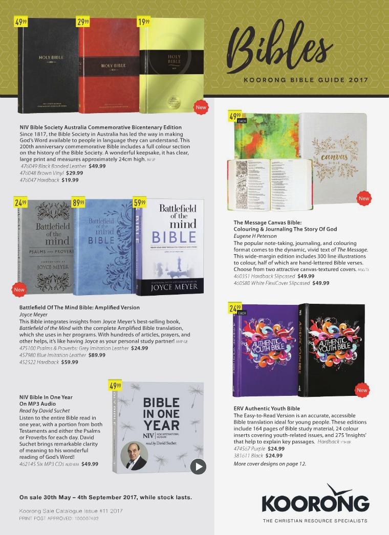 The Koorong Catalogue Bible Guide 2017