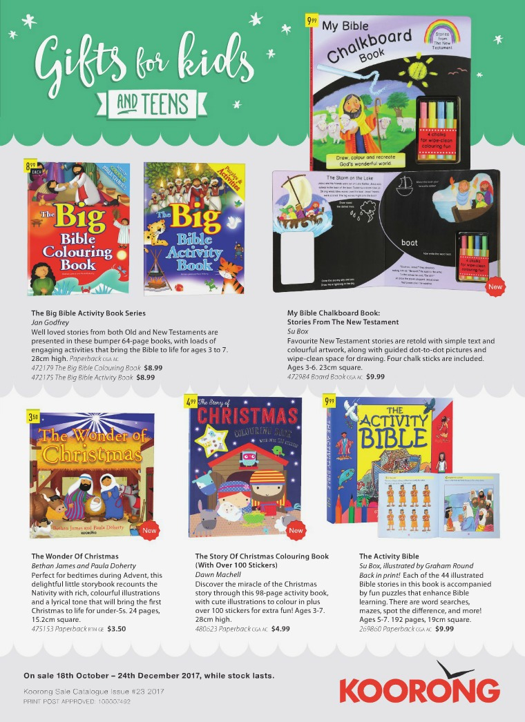 The Koorong Catalogue Gift Ideas for Kids & Teens