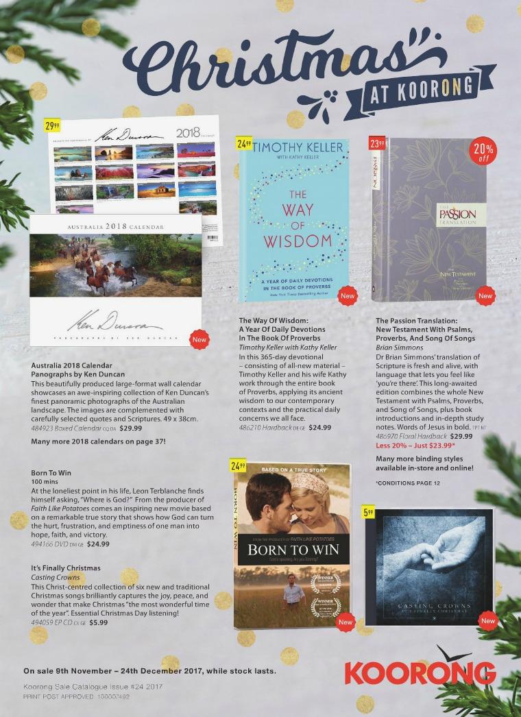 The Koorong Catalogue Christmas At Koorong