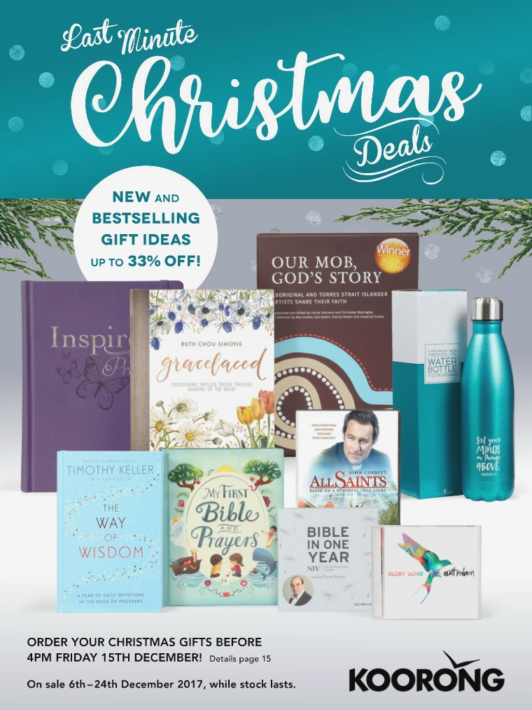 The Koorong Catalogue Last Minute Christmas Deals