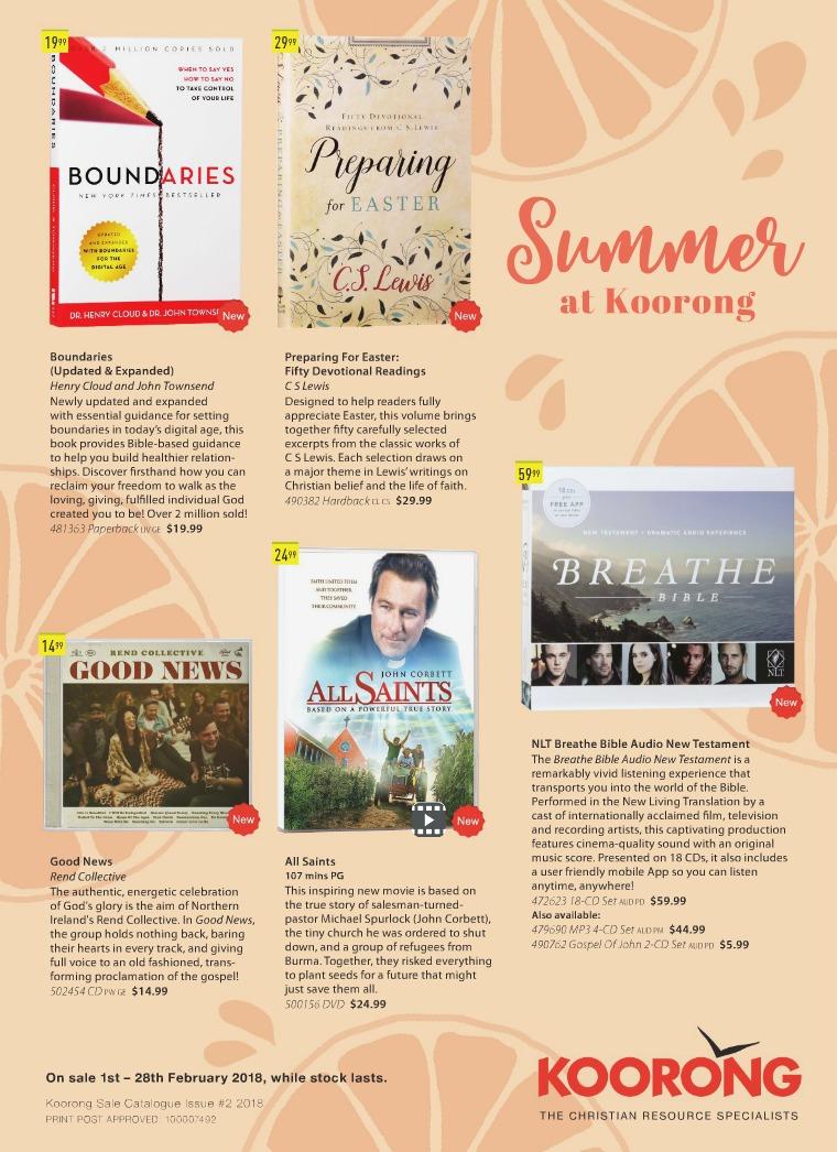 The Koorong Catalogue Summer At Koorong