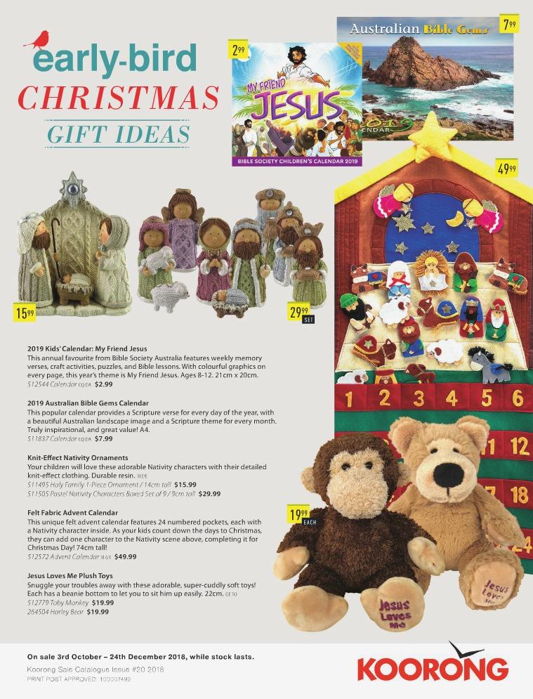 The Koorong Catalogue Early-Bird Christmas Gift Ideas