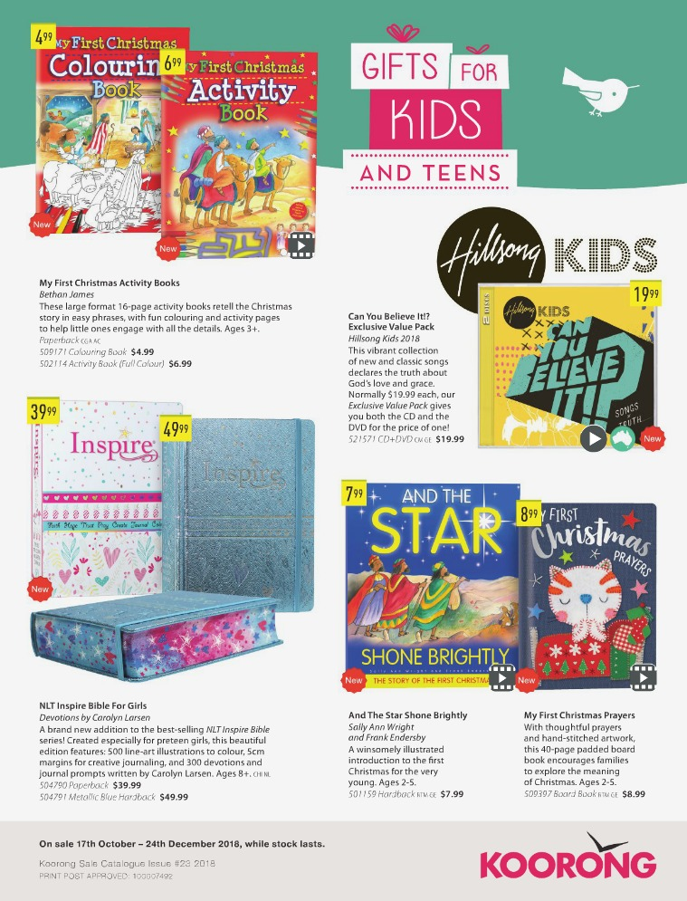 The Koorong Catalogue Gifts for Kids and Teens