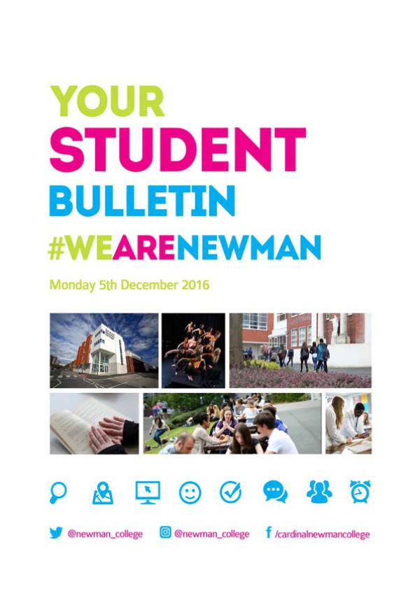 Student Bulletin 2016/17 Monday 5th December