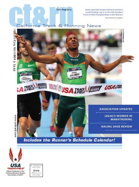 California Track & Running News July-Aug 2013, VOLUME 39 NUMBER 3