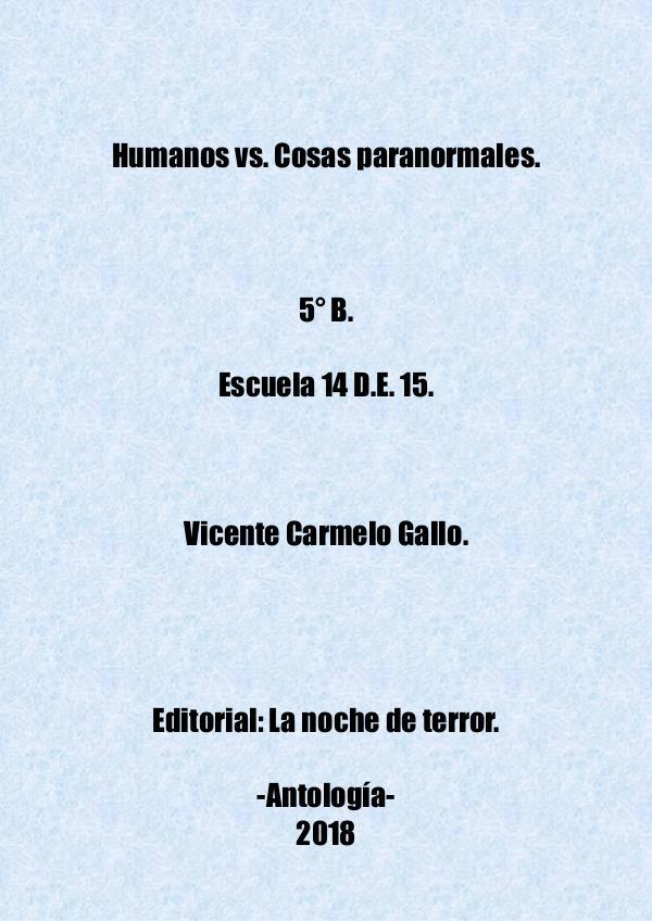 Humanos vs. Cosas paranormales Humanos vs cosas paranormales