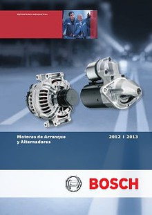 Catalogo de Arranques y Alternadores Bosch