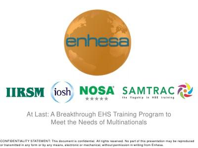 Webinars At Last: A Breakthrough EHS Training Program